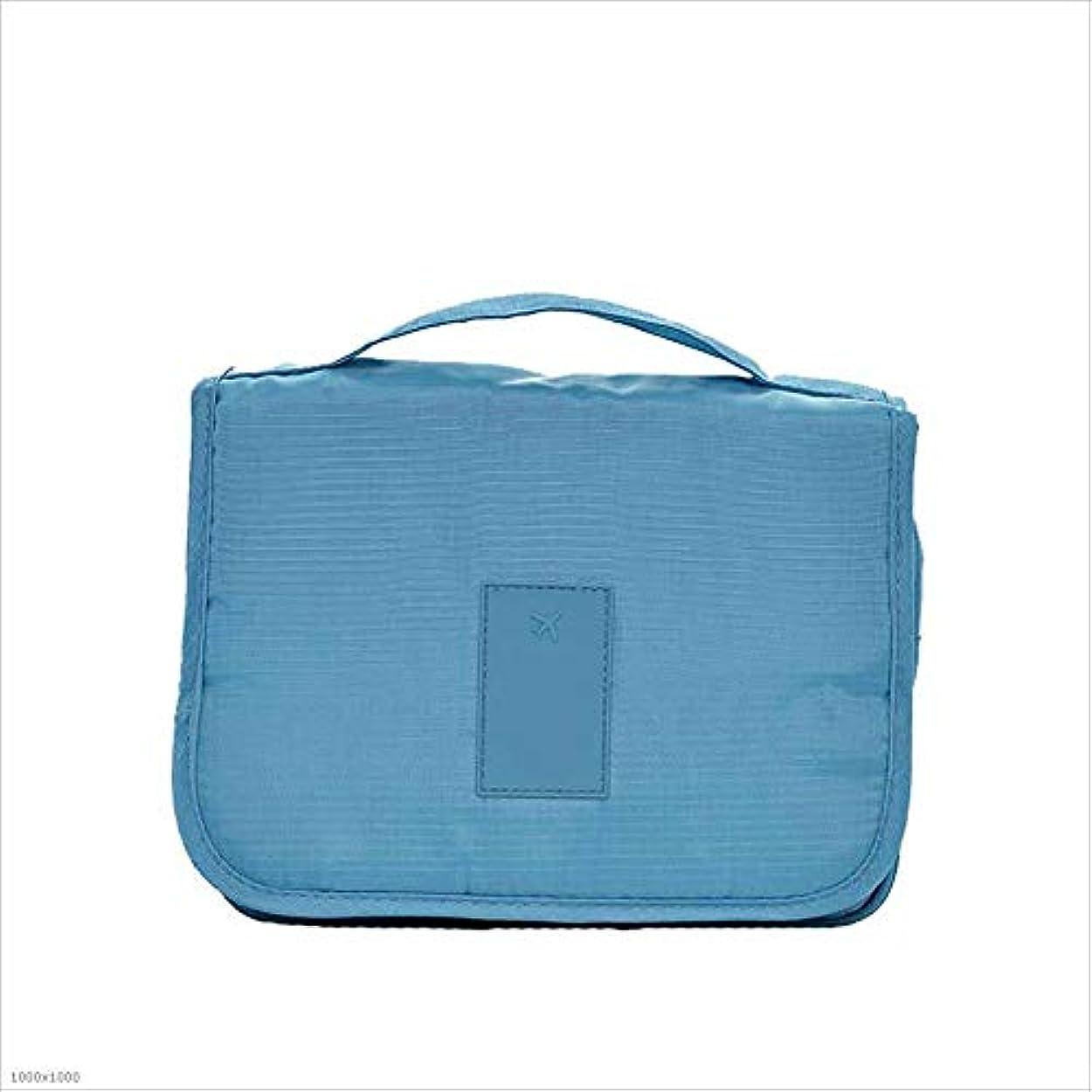 枕個人的な有名なウォッシュバッグ 防水ウォッシュバッグ化粧品袋のハンギングホリデートラベルトイレタリーバッグ多機能 トイレタリーバッグ (Color : Blue)