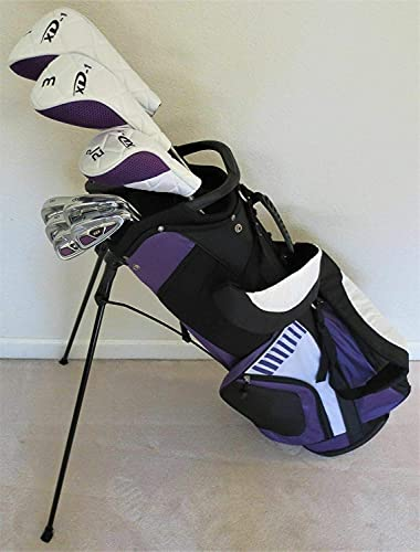 Ladies Complete Golf Club Set - Driver, Fairway Wood, Hybrid, Irons, Putter, Clubs and Stand Bag Right Hand