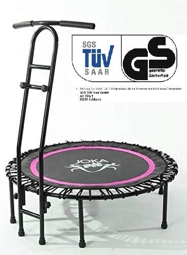 Fitnesstrampolin mit Haltegriff von JOKA FIT Trampolin pink mit Trainings DVD