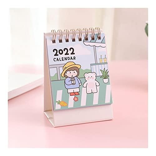 Calendario 2022 2022 mini lindo calendario de escritorio kawaii decoración de escritorio calendario libro de dibujos animados escritorio creativo notepad escritorio calendario Año académico en pie