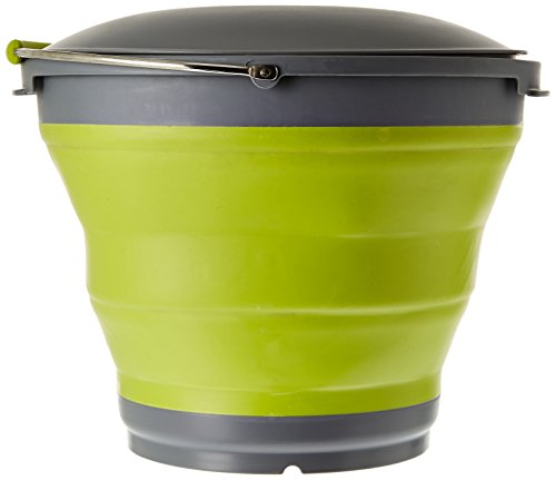 Outwell Collaps Bucket with Lid - Green, 7.5 L