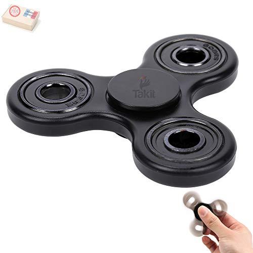 Takit TUMI Fidget Hand Spinner - El Mejor Juguete Reductor De Estrés para Dedos Ansiedad Y El Estrés - para Adultos O Niños - Negro