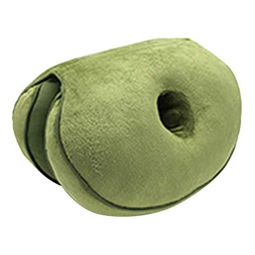 Innerset - Cojín Multifuncional, Doble cómodo, Espuma viscoelástica para Asiento de Cadera
