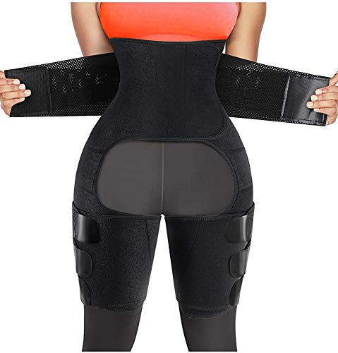 Chumian Faja abdominal adelgazante para mujer, deportiva, sauna, Shapewear (negro, XL) 🔥