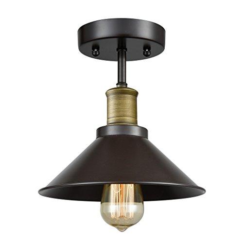 Ecopower Mini Industrial Edison Lámpara de techo 1-Light