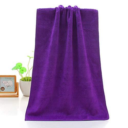 DAN Handtuch Mikrofaser 400g verdicktes Haar Salon Autowaschanlage 35 * 75 Wachsen trockenes Haar saugfähiges Handtuch Geschenk Werbegeschenk, 400g Zellulose lila, 35 * 75