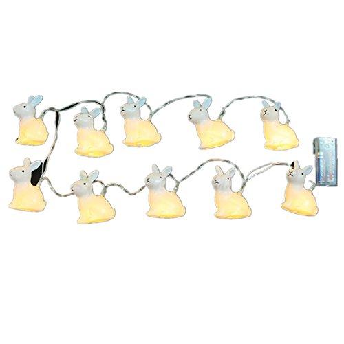 LEDMOMO Ostern Lichterkette Kaninchen Form für Party Fest Dekoration