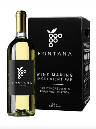 Fontana Italian Pinot Grigio Wine Making Kit   6 Gallon Wine Kit   Premium Ingredients for DIY Wine Making, Makes 30 Bottles of Wine (Italian Pinot Grigio)