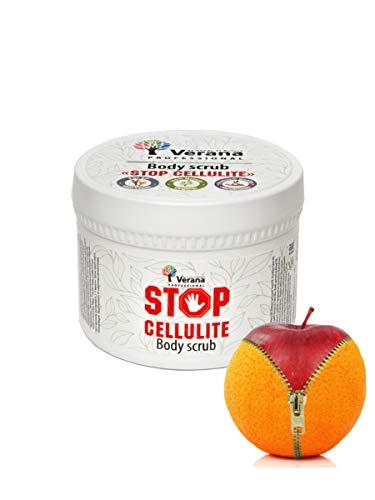 Verana Körperpeeling Stop Cellulite, Body Scrub für alle Hauttypen, wirkt gegen Cellulitie, Naturkosmetik mit Ingwer, 300 g