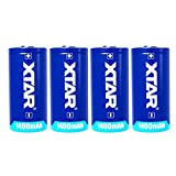 XTAR 大容量乾電池 CR123A 1400mAh 3.0V 4本 二酸化マンガンリチウムバッテリー