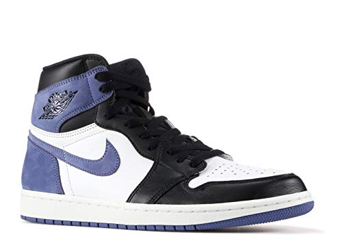 Nike Air Jordan 1 Retro High Og - Summit White/Blue Moon-Black - Basketball-Schuhe-Herren, Größe:11.5