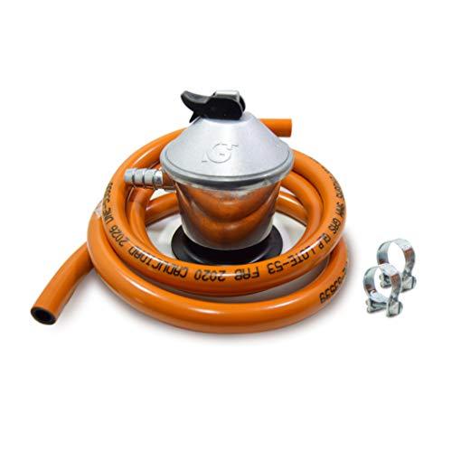 S&M 321771 Regulador de Gas Butano+ Tubo Goma 1,5 M + 2...