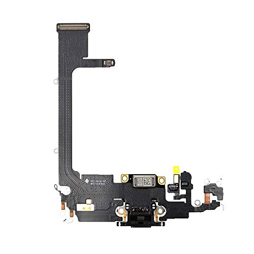 Best Shopper - Replacement Charging Charge Port Flex Cable Compatible with Apple iPhone 11 Pro (A2160) - Space Grey/Black