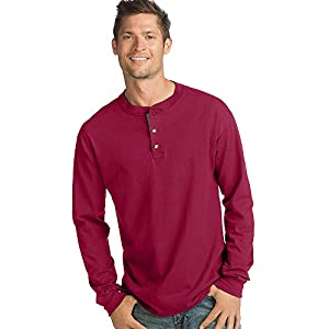 Men's BEEFY-T Long-Sleeve Henley Shirt