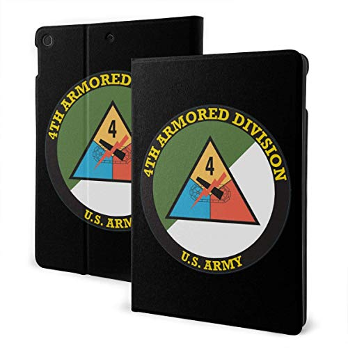 Case for iPad Army 4th Armored Division PU Leather Business Folio Shell Cover with Stand Pocket and Auto Wake/Sleep for iPad Air 10.5'