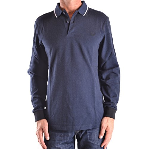 Fred Perry Herren T-Shirt FP LS Twin Tipped Shirt, Serv Blu Blk Oxf, Small