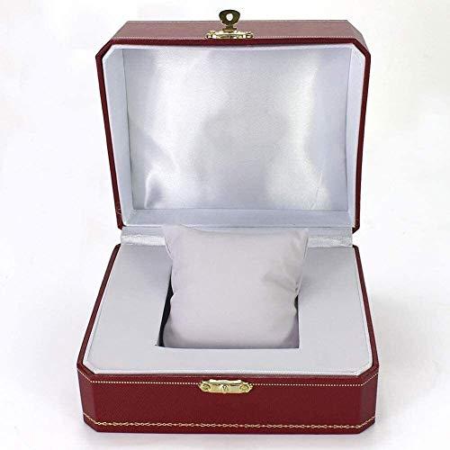 cajas de cartón para embalaje Caja de reloj Una caja de reloj Elegante almacenamiento para relojes y joyas Pulseras Colección (Color: Rojo, Tamaño: 10X12X7.5CM) Embalaje Caja de cartón