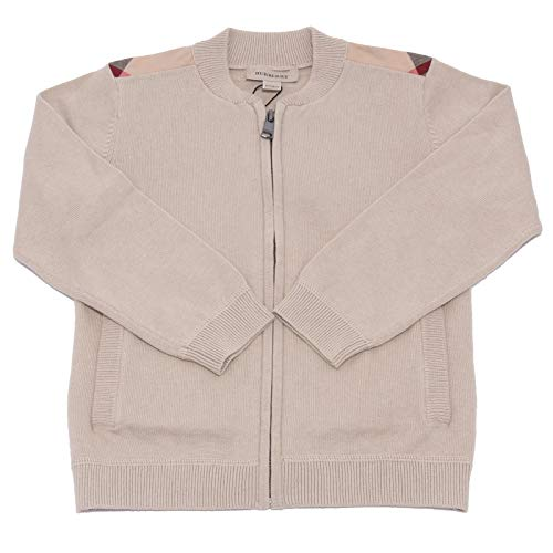 BURBERRY 8110Q Cardigan Bimbo beige Y Cotone Lana maglioni Sweaters Jumpers Kids [5 Years]