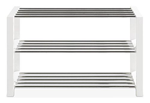 Schuhbank Schuhregal Schuhschrank | weiß lackiert | 80x50x30 cm