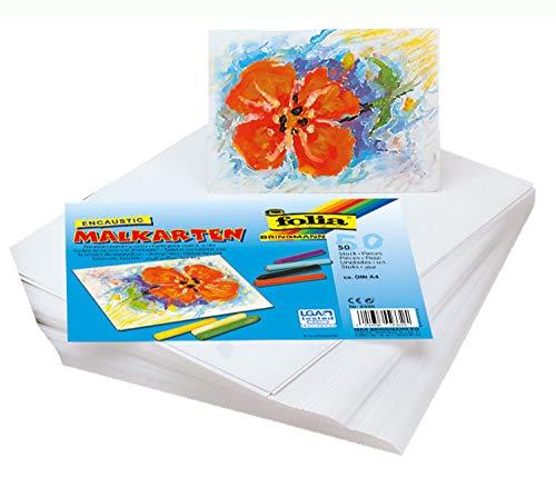 folia 2330 - Encaustic - Malkarten, DIN A4 Format, 50 Blatt, stark verdichtetes, sehr glattes Spezialpapier für die Wachsmaltechnik