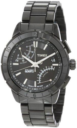 26ddc8bbd Timex Men's T2N500 Intelligent Quartz SL Series Fly Back Chronograph Black  IP Bracelet Watch