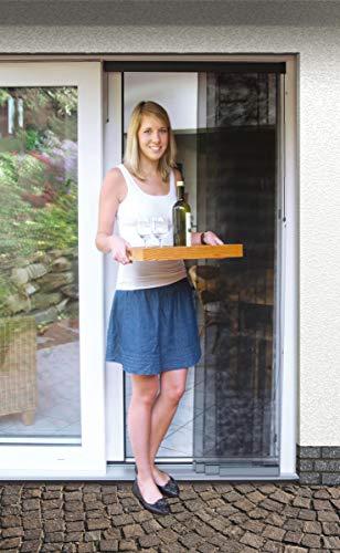 Schellenberg 50663 Estensibile Premium 115 x 250 cm, Tende zanzariere con 5 lamelle per Porte, Antracite