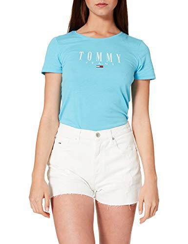 Tommy Jeans Damen Hotpant Denim OWCD Jeans-Shorts, Optic Wh Com Destr, W27