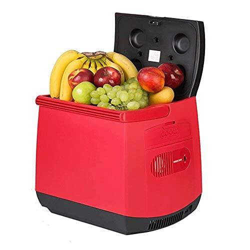 RTOFO Refrigerador de coche 25L Refrigeración 12V coche 110-240V hogar de doble uso portátil pequeño refrigerador hogar