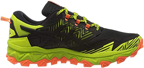 Asics Mens Gel-Fujitrabuco 8 Running Shoe, Neon Lime/Black, 43.5 EU