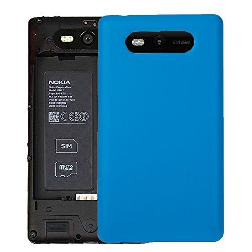 Kompatibler Ersatz Solid Color NFC-Akku Rückseite for Nokia Lumia 820 Zubehör (Color : Blue)