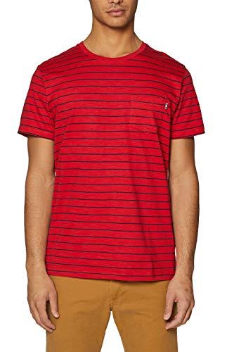ESPRIT Herren 039EE2K047 T-Shirt, Rot (Red 630), Medium (Herstellergröße: M)