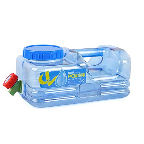 5L Bidón Plástico con Grifo, Contenedor De Agua Portátil, Tanque De Almacenamiento Agua, Seguro, No Tóxico Y De Gran Capacidad, Adecuado para El Uso De Coches De Viaje De Campo