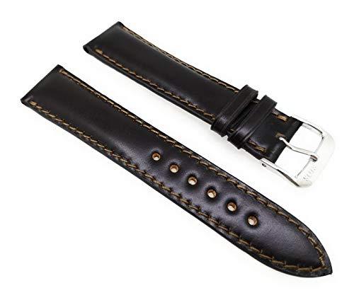 Rios Cordovan Uhrenarmband Chicago 20mm Dunkelbraun - Mokka Vollumbugband Made in Germany