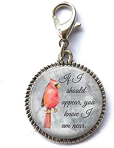 Chiusura lampo per pappagallo rosso con cerniera a forma di uccello rosso, ideale come regalo per lui o per lei