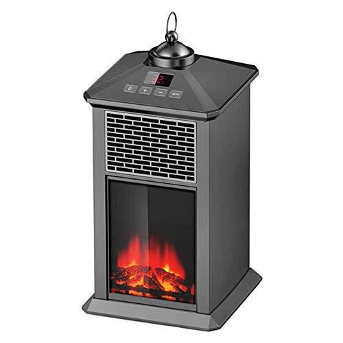 Hearthrousy Elektrischer Kamin mit heizung 800W tragbare Kaminheizung mit Fernbedienung und Timing-Funktion LED Kaminfeuer Flammeneffekt, Kipp- und Überhitzungsschutz