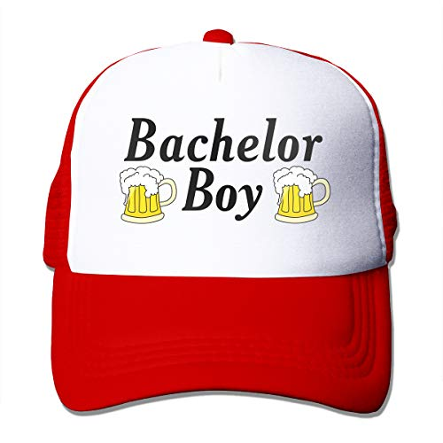 cheap Waldeal Men's Bachelor Beer Coaster Mesh Bachelor Party Hat Groom Wedding Reception Gift Red
