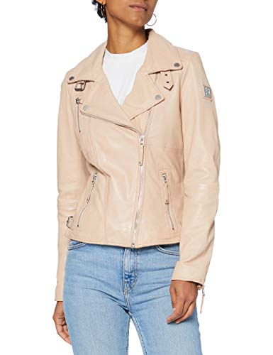 Freaky Nation Damen Biker Princess Jacke, rose, XL