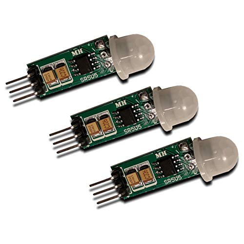Homengineer 3X Mini Bewegungsmelder Digitaler PIR Sensor klein und platzsparend f. Arduino Raspberry Pi etc.