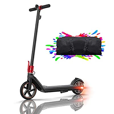 Electric Scooters Ultra Lightweight Folding Adult Electric Scooter 150W Motor Electric Kick Scooter Solid Tires 15km Range Suitable for Children and Teenagers (Black Mini2)