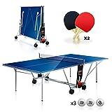 Mesa plegable interior de ping pong YM DRAGO - Dimensiones oficiales del torneo 274 x 152.5 x 76 cm - Ruta de transporte -...