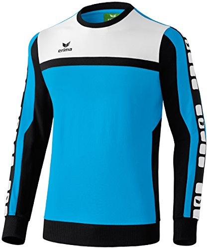 Erima Herren Classic 5-C Sweatshirt, curacao/schwarz/weiß, XXL