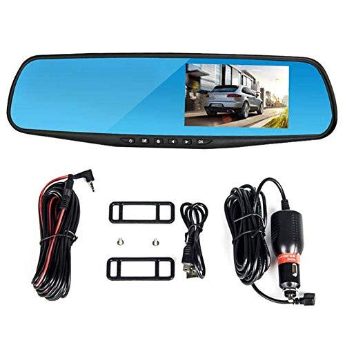 HD visión nocturna Monitoreo tablero de coches leva de la cámara, la lente doble registrador de la conducción, delantera y trasera de marcha atrás Imagen Integración del tablero de instrumentos del re