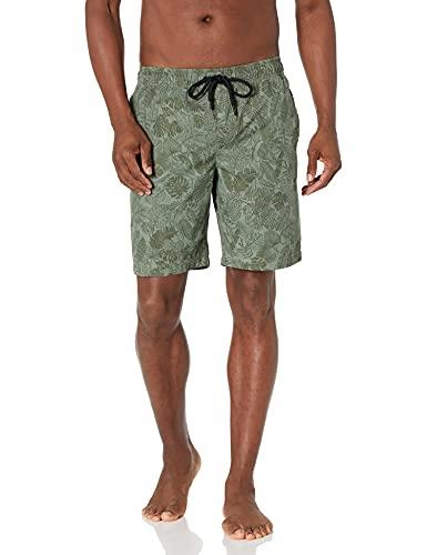 Marca Amazon - Goodthreads - Bañador para hombre, tiro de 23 cm., Green Parrot Print, US M (EU M)