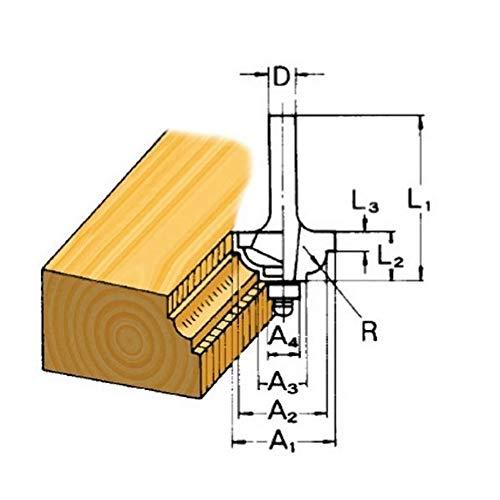 MAKITA D-09575 D-09575-Fresa molduradora 2, 6 mm