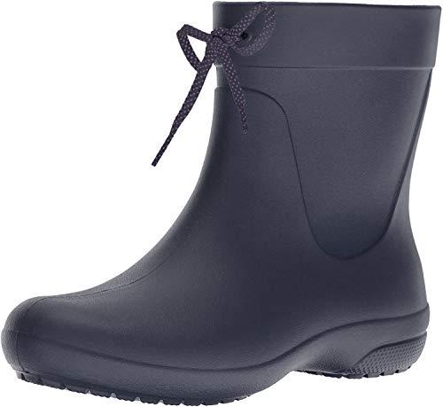 Crocs Freesail Shorty Rain Boots, Damen Gummistiefel, Blau (Navy), 38/39 EU