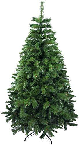 Árbol de Navidad Artificial de Pino Maxi-Relleno Abeto Artificial C/Soporte Metálico 150-240cm (Verde, 240cm 1180Tips)