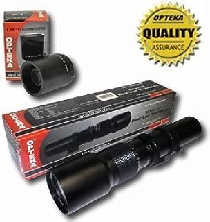 Opteka High Definition 500mm / 1000mm f/8 Preset Telephoto Lens for Nikon Digital & Film SLR Cameras