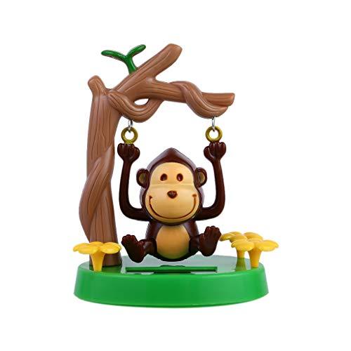 SIMAYA Car Solar Ornaments, Dancing Animal Swinging Animated Bobble Dancer Toy Car Decor Wing Monkey Car Dashboard Home Ornaments Children's Toys and Gifts (10.5X6X5.8cm, Monkey)