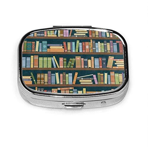 Pill Box Organizer Bücherregal in der Bibliothek Bookworm Fashion Pill Case für Geldbörse/Tasche