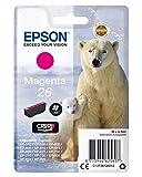 Epson C13T26134020 - Cartucho de tinta, 300 páginas/4.5 ml, Magenta, Ya disponible en Amazon Dash Replenishment